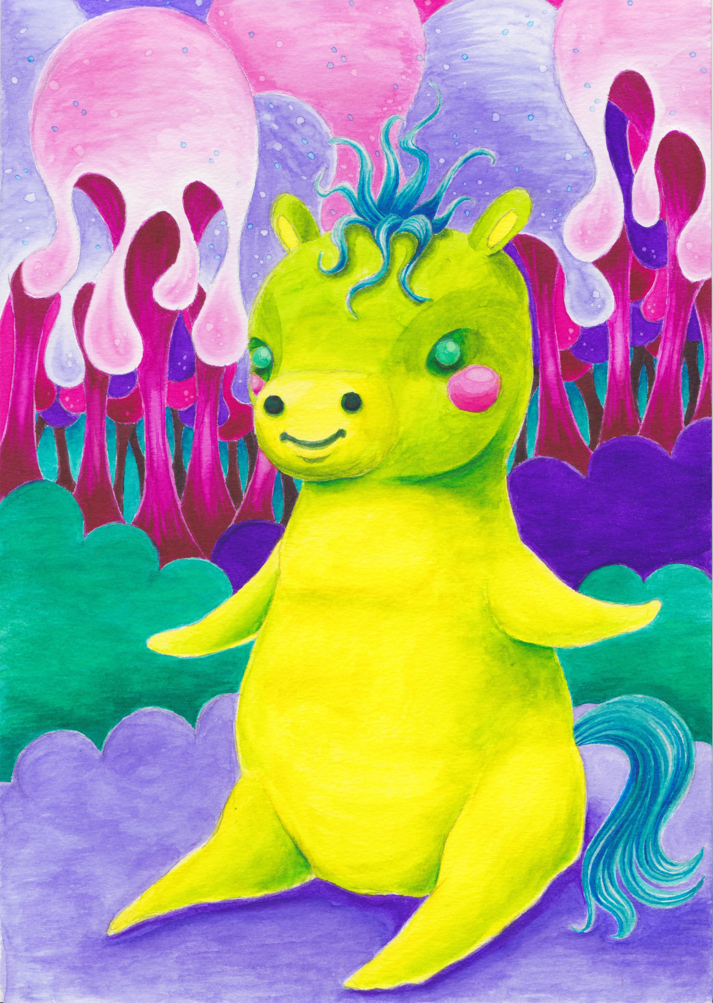 Lil' Green Pony