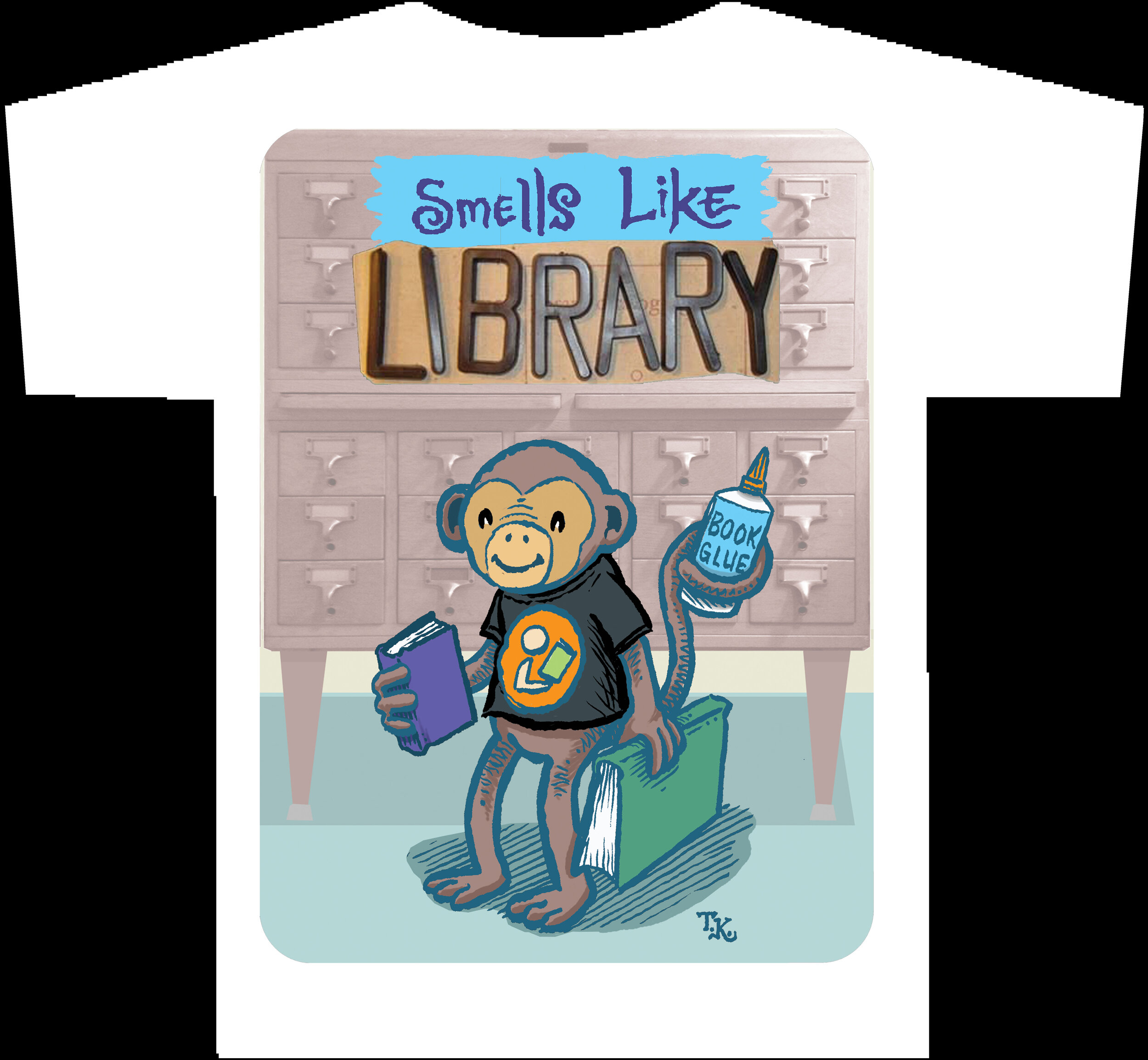 SMELLS LIKE LIBRARY Monkey T