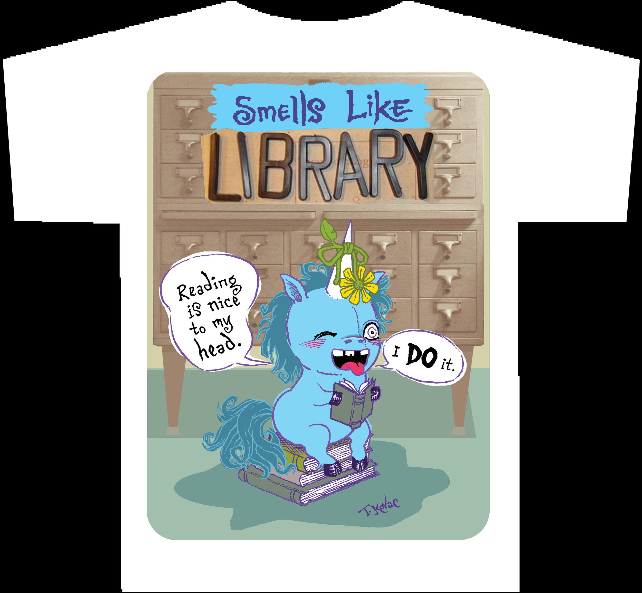 SMELLS LIKE LIBRARY Unicorn T