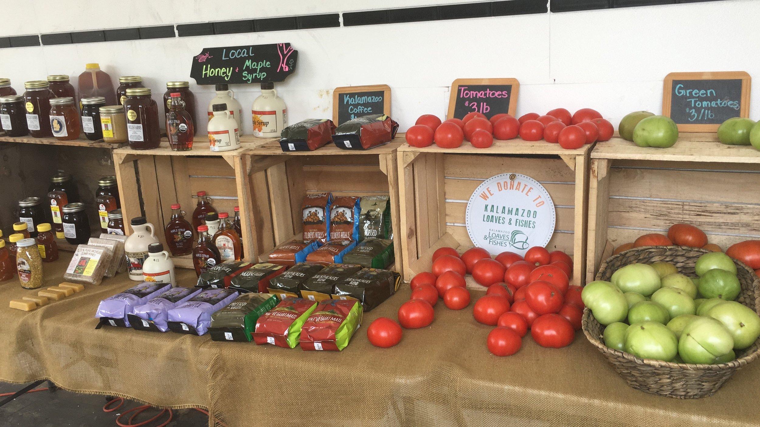 Soil Friends had its own market! Open 6 days a week.