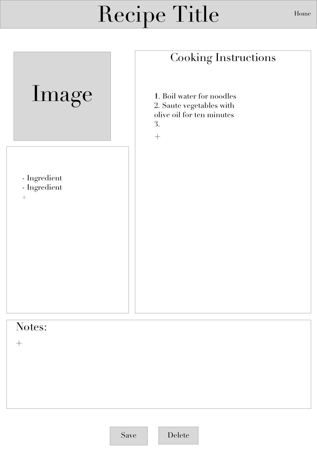 New Recipe Page (web)