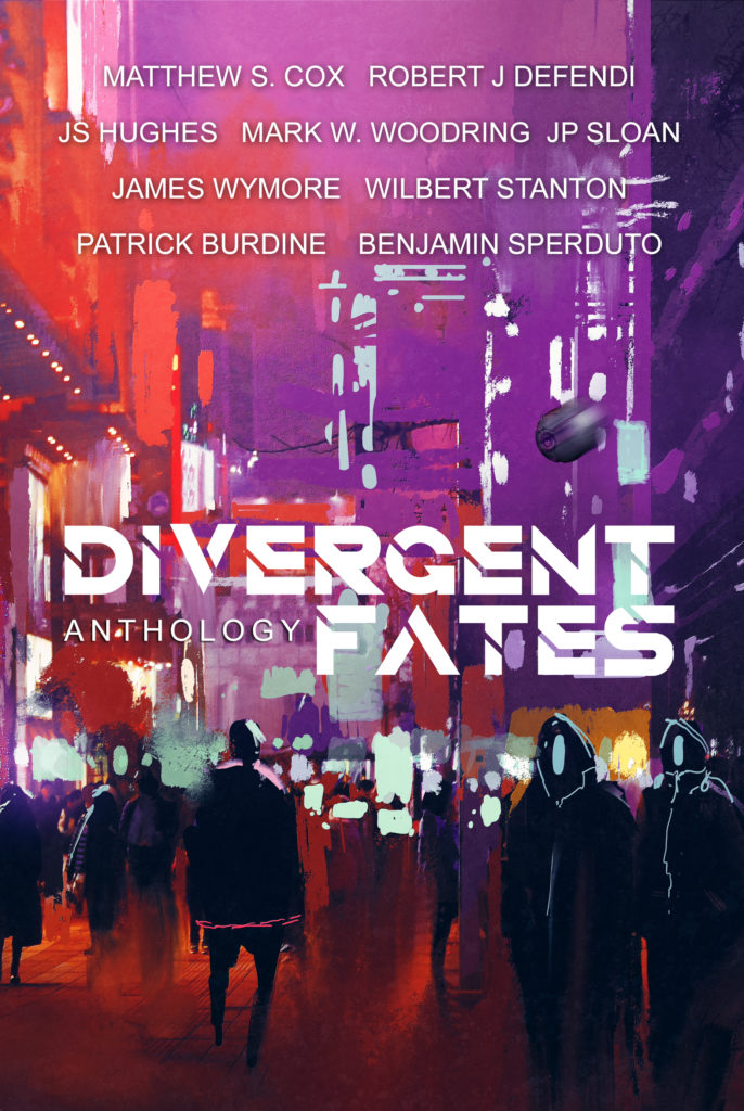 Divergent Fate - A collection of short stories set in the Divergent Fate's universe, encompassing cyberpunk, post-apocalyptic, and neo-feudal Japan.Featuring Wilbert Stanton's Prophet's Wake follows Cassie Black, a hardened escaped con chasing a hail-Mary payday into the Badlands. Betrayal leaves her at a crossroads between greed, revenge, and a change of heart.