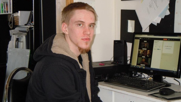 Aaron Driver, shown in 2015, was shot by police after he detonated a device that wounded himself and one other person in Strathroy, Ont. (Facebook)
