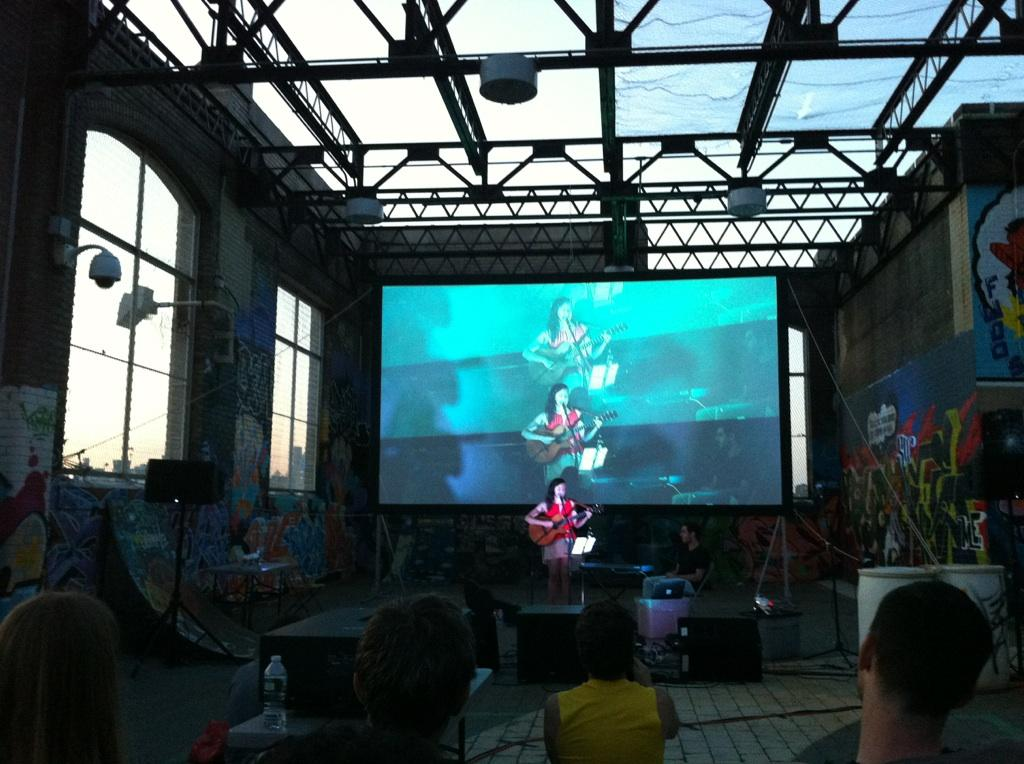 Here I am performing songs from the film before the screening.