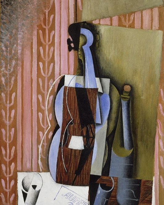 """""""A table, a chair, a bowl of fruit & a violin; what else does a man need to be happy?"""" - Albert Einstein 🎼Painting by Juan Gris🎻 . . . #NCViolinMaker #ViolinMaker #MontgomeryViolins #Violins #Violinist #Luthier #MakeMusic #ClassicalMusic #JuanGris #MakeArt #BeArt #MusicLovers #WeekendLove #Musician"""