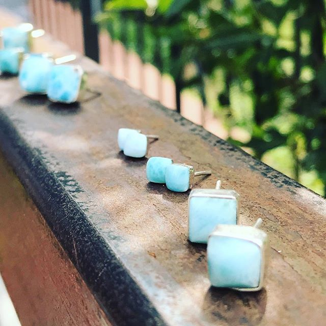 Available on the website now! Four sizes ranging from tiny to large! Shop link in profile #freedomcollectiveinternational #empoweringartisans #larimar #fairtradefashion