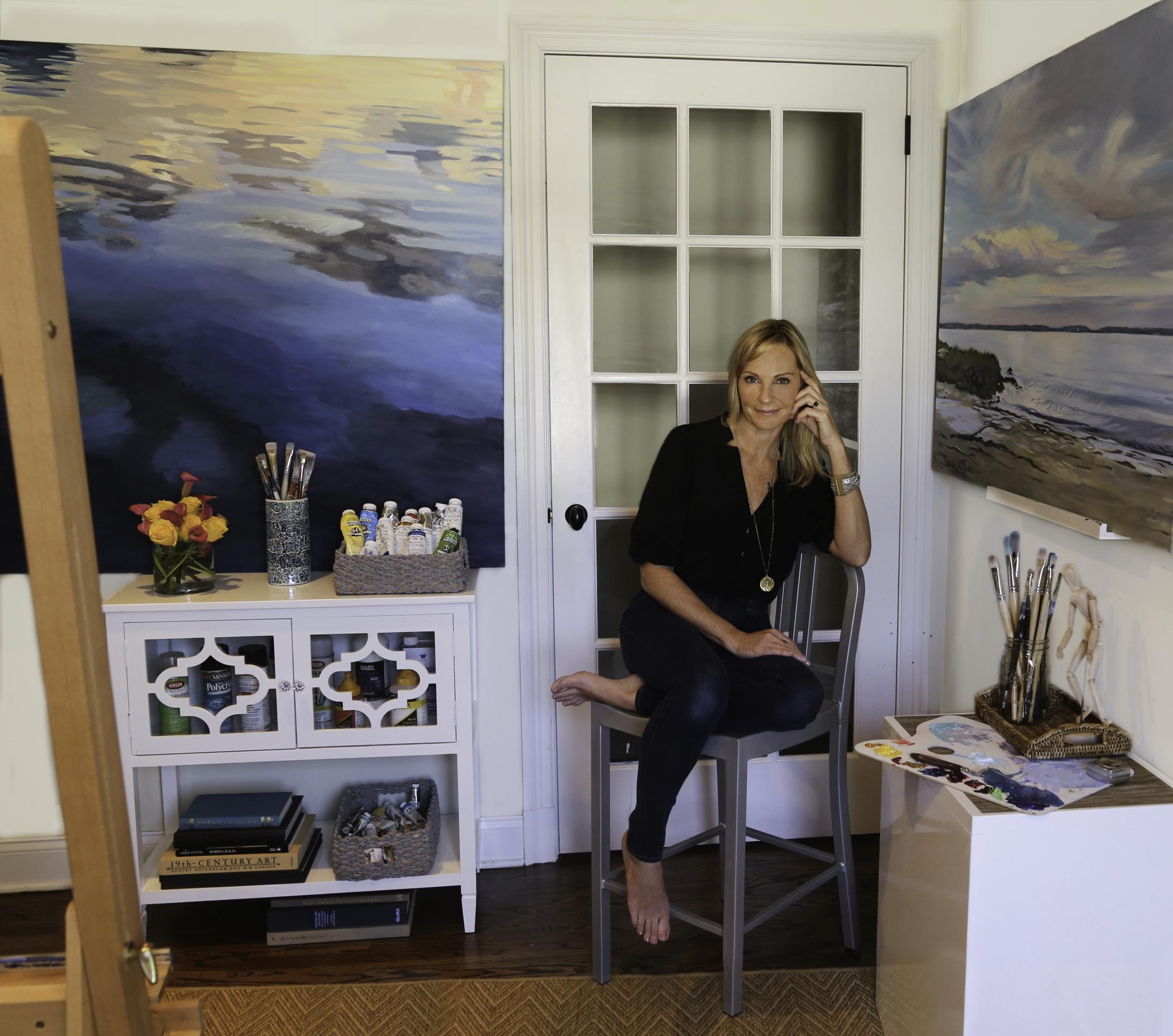 ARTIST IN HER STUDIO RYE, NY  Katherine-coleman photography