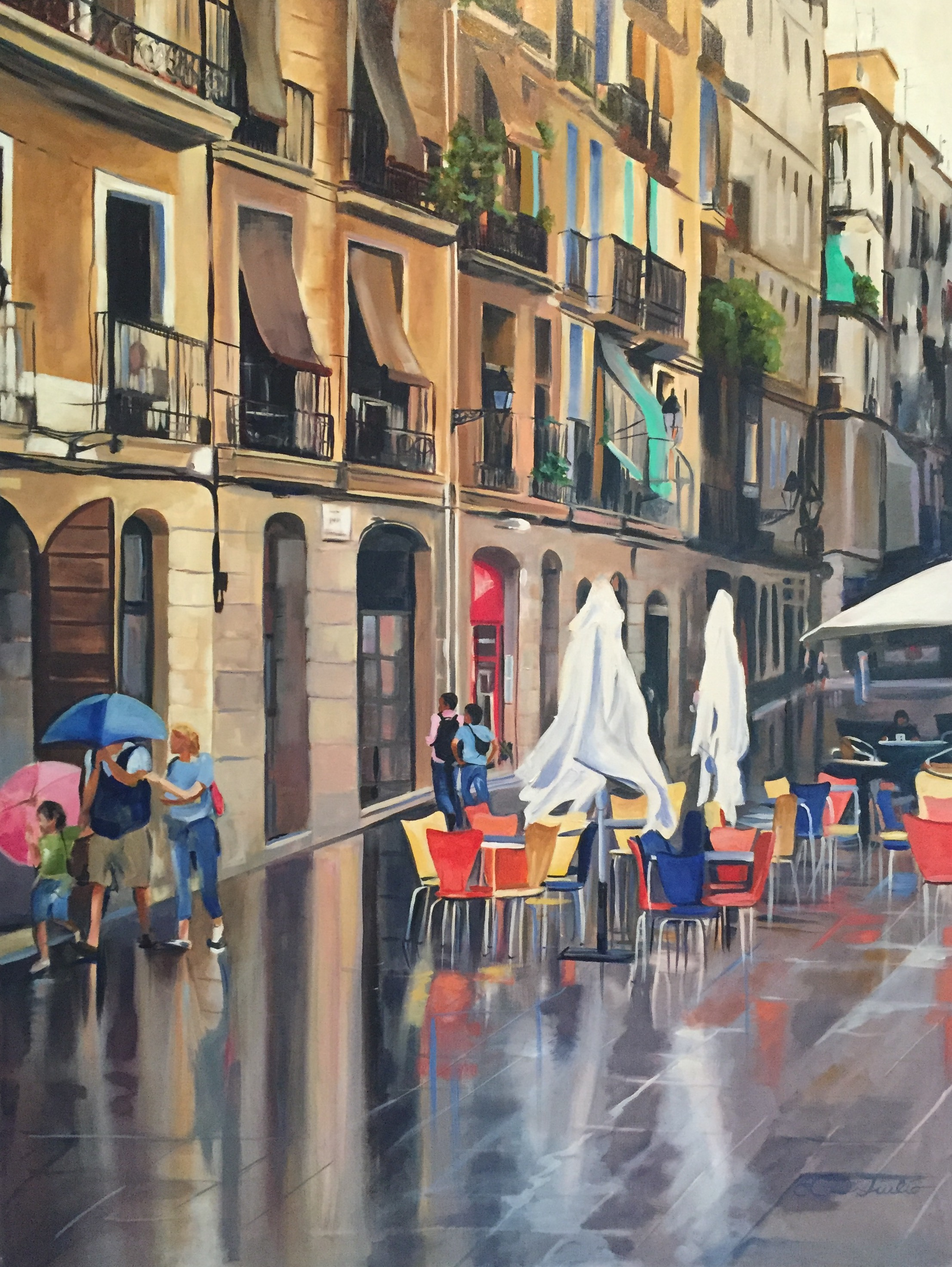 Rainy Streets, Barcelona