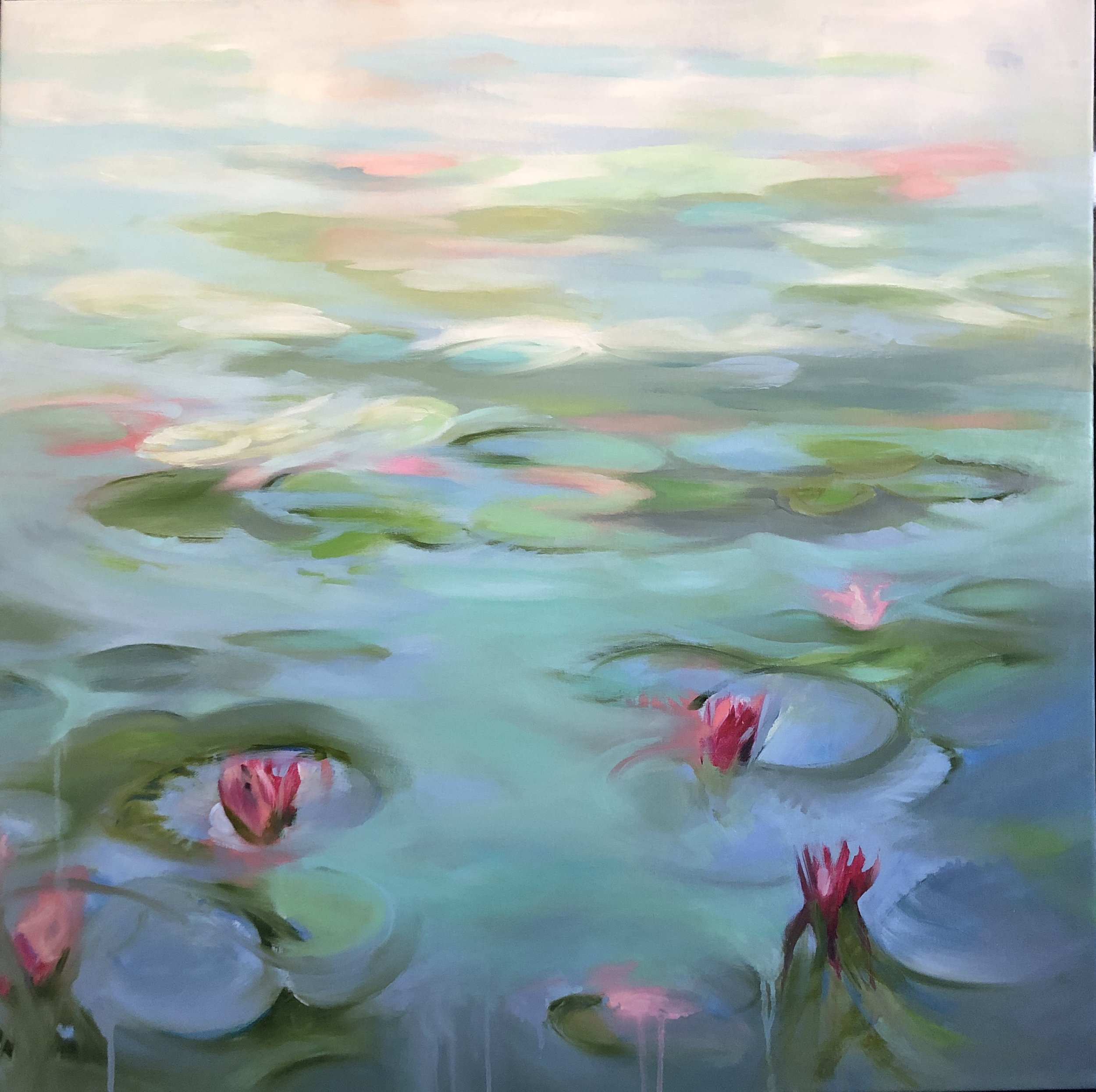Pink Lilies Submerged