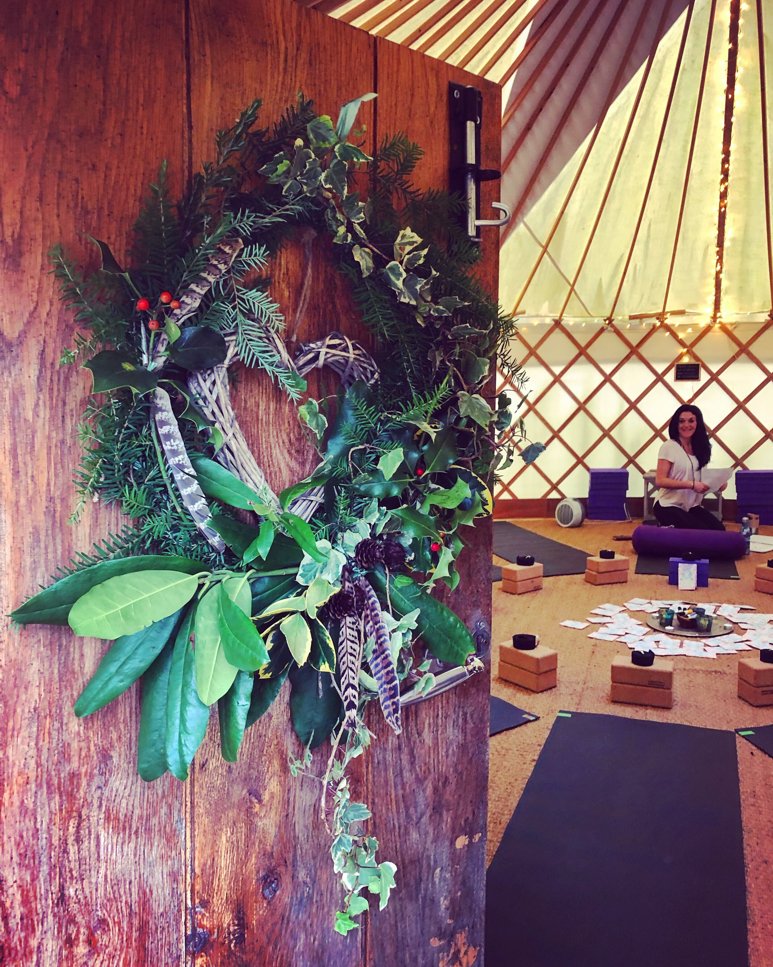 Come in from the cold, leave the chaos behind and find calm in our cosy Winter Yurt
