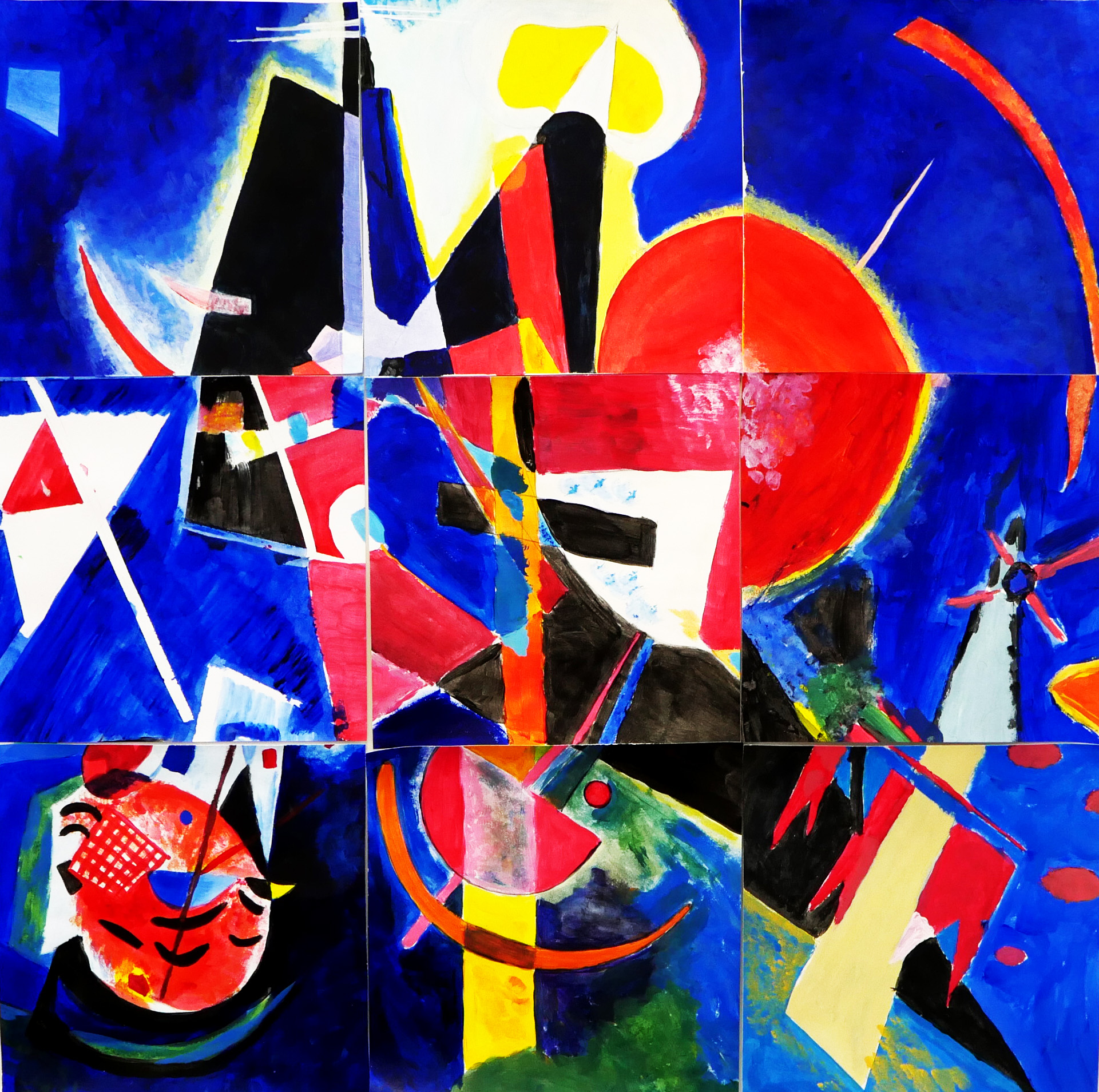 Group collaboration based on Wassily Kandinsky's  In Blue  (1925)
