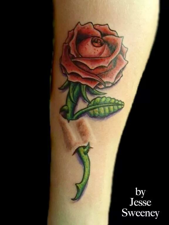 Custom rose tattoo