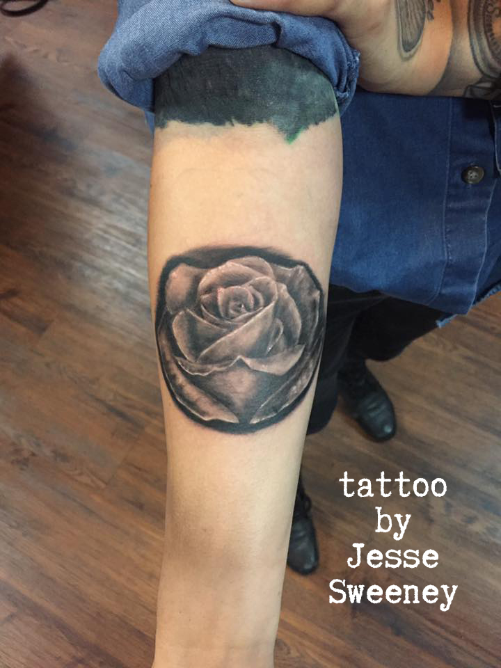 black and grey rose
