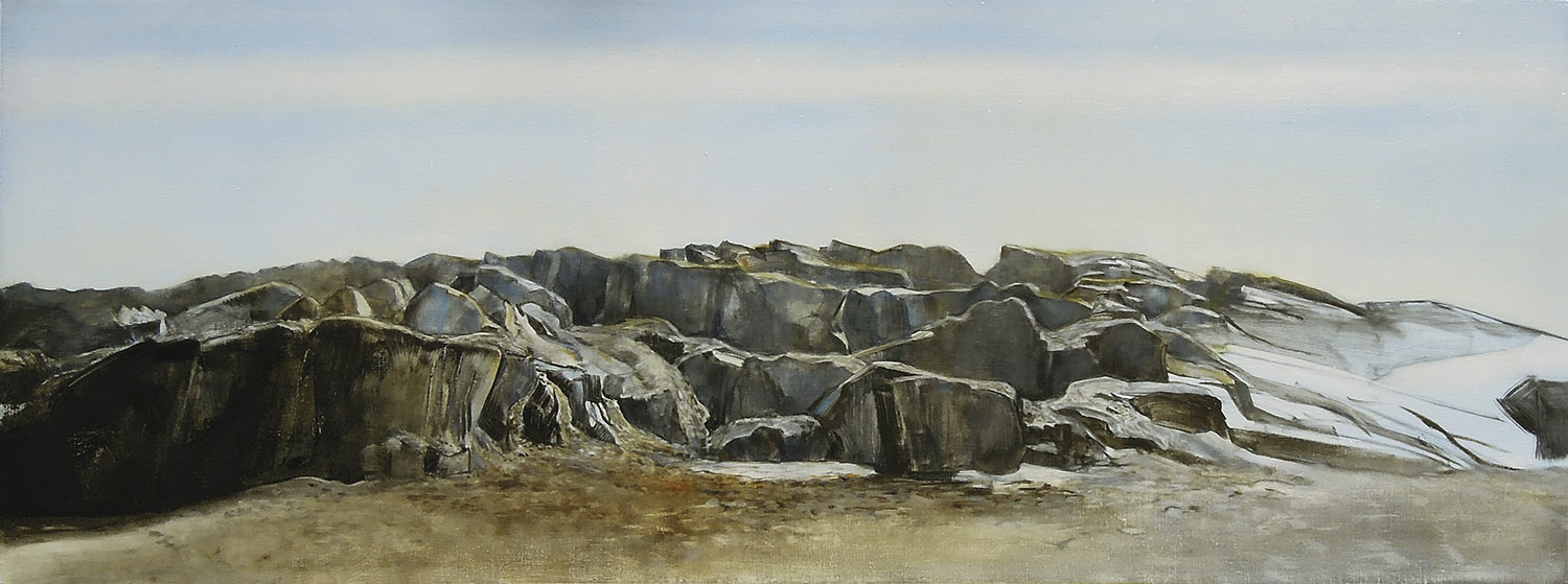 "Rockport  oil on linen 18""x48"" 2012 *"