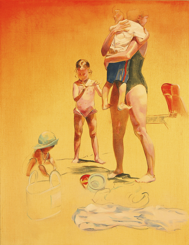"Mother and Children, Walden  oil on linen 22"" x 17"" 2003"