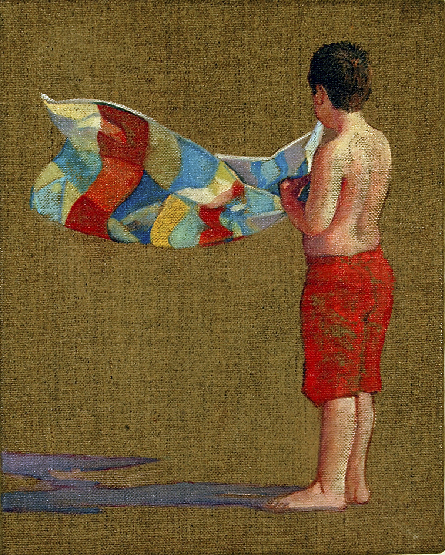 "Towel 4  oil on linen 10"" x 8"" 2009"