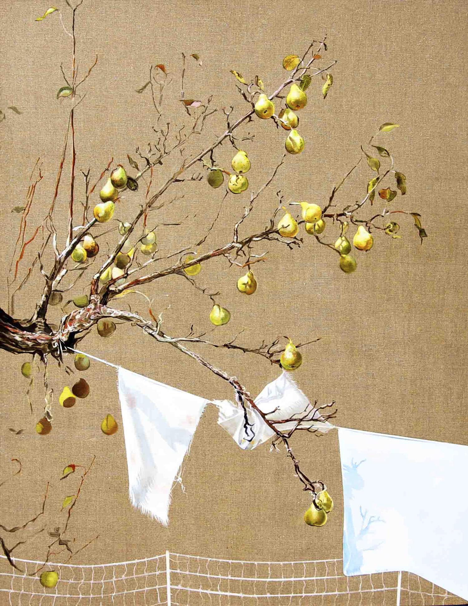 "Pear Tree  oil on linen 54""x42"" 2011"