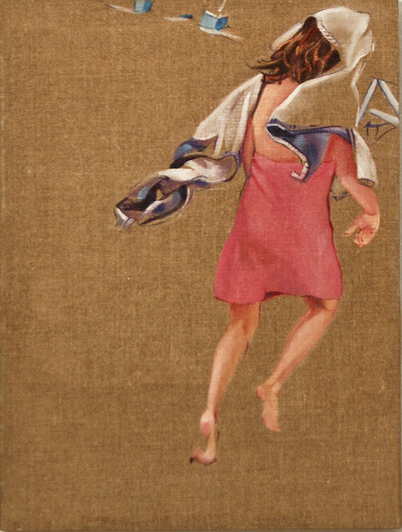 """Towel 5   oil on linen on panel  16"""" x 12""""  2011"""