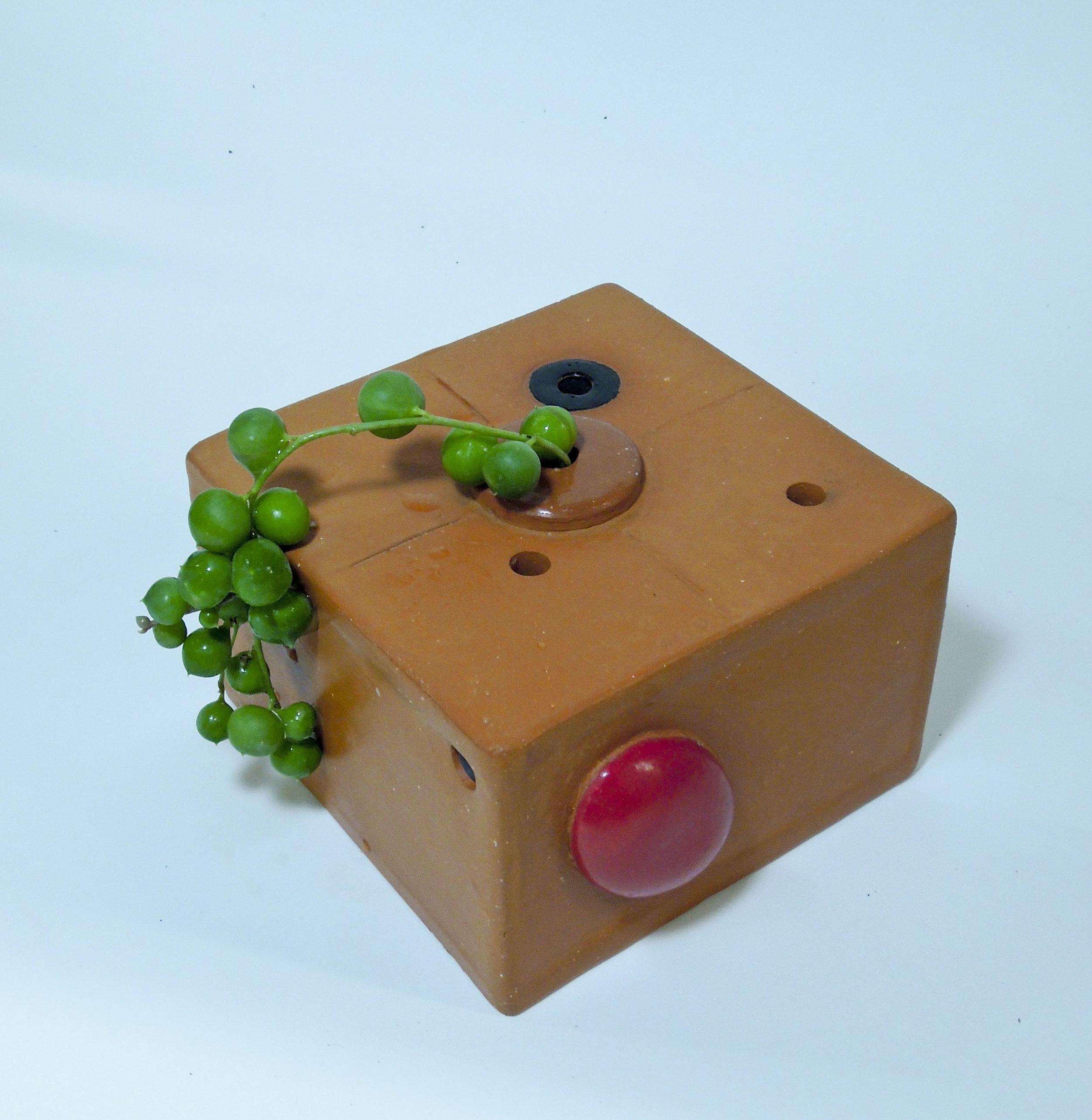 """Ikebana  terra cotta box  4"""" x 4"""" x 3"""" 2019"""