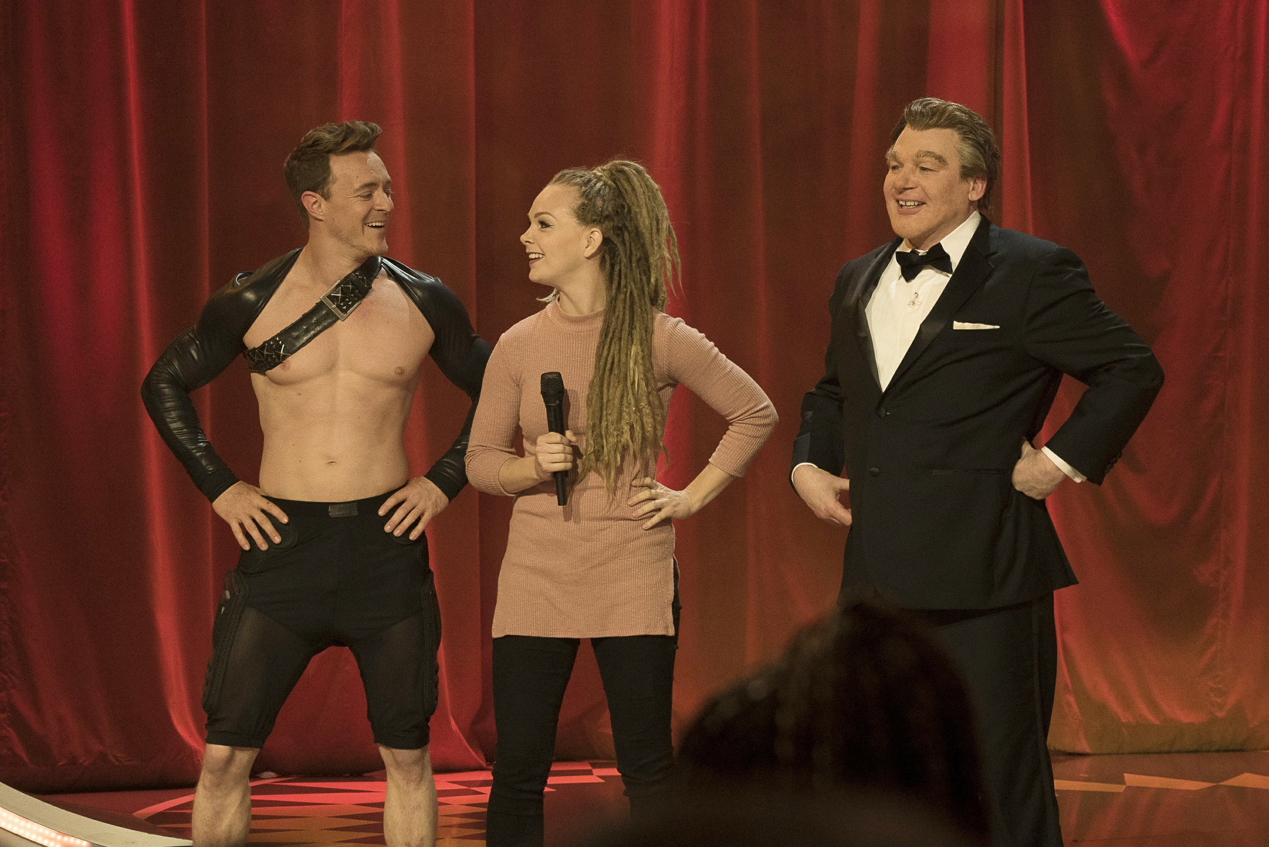 Rocco and Nova (co-owners of Gravity) with Mike Myers (Austin Powers, SNL, Shrek) on the Gong Show