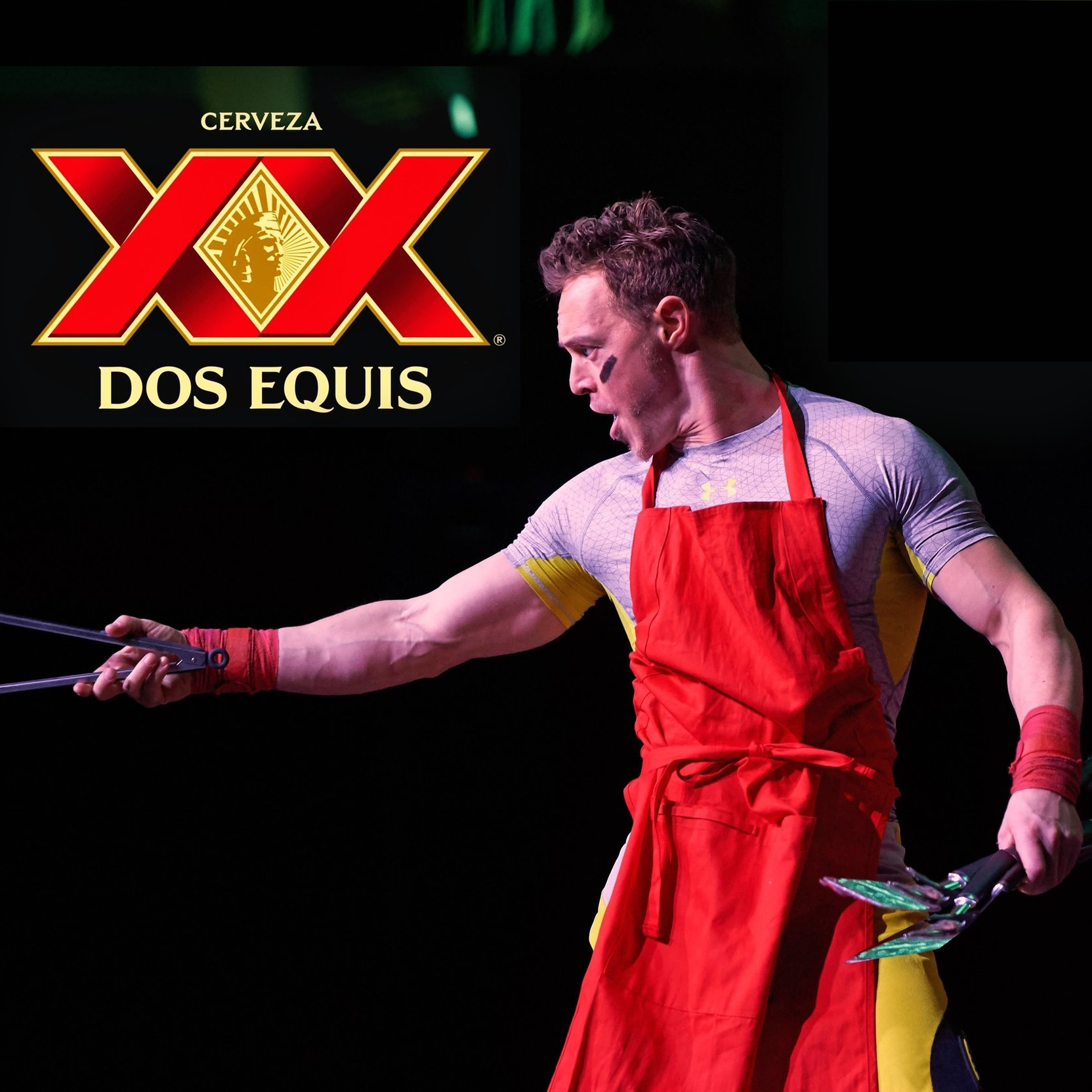 An unusual juggling act for a tailgate-themed Dos Equis event