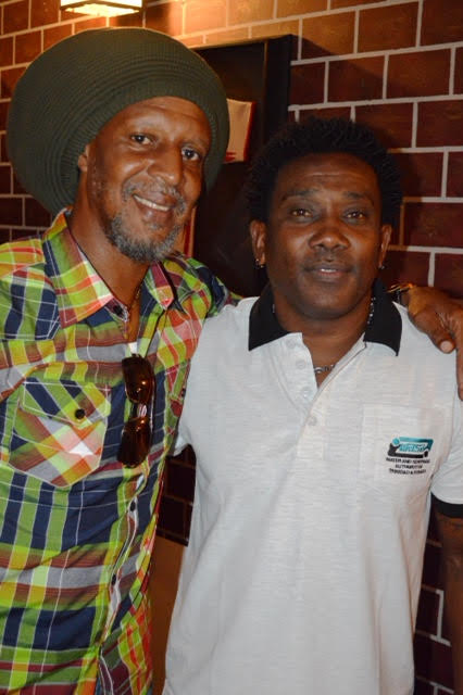 "Legendary ""Strike Squad"" defenders, Brian Williams and Marvin Faustin share a moment @ the GFFS launch."