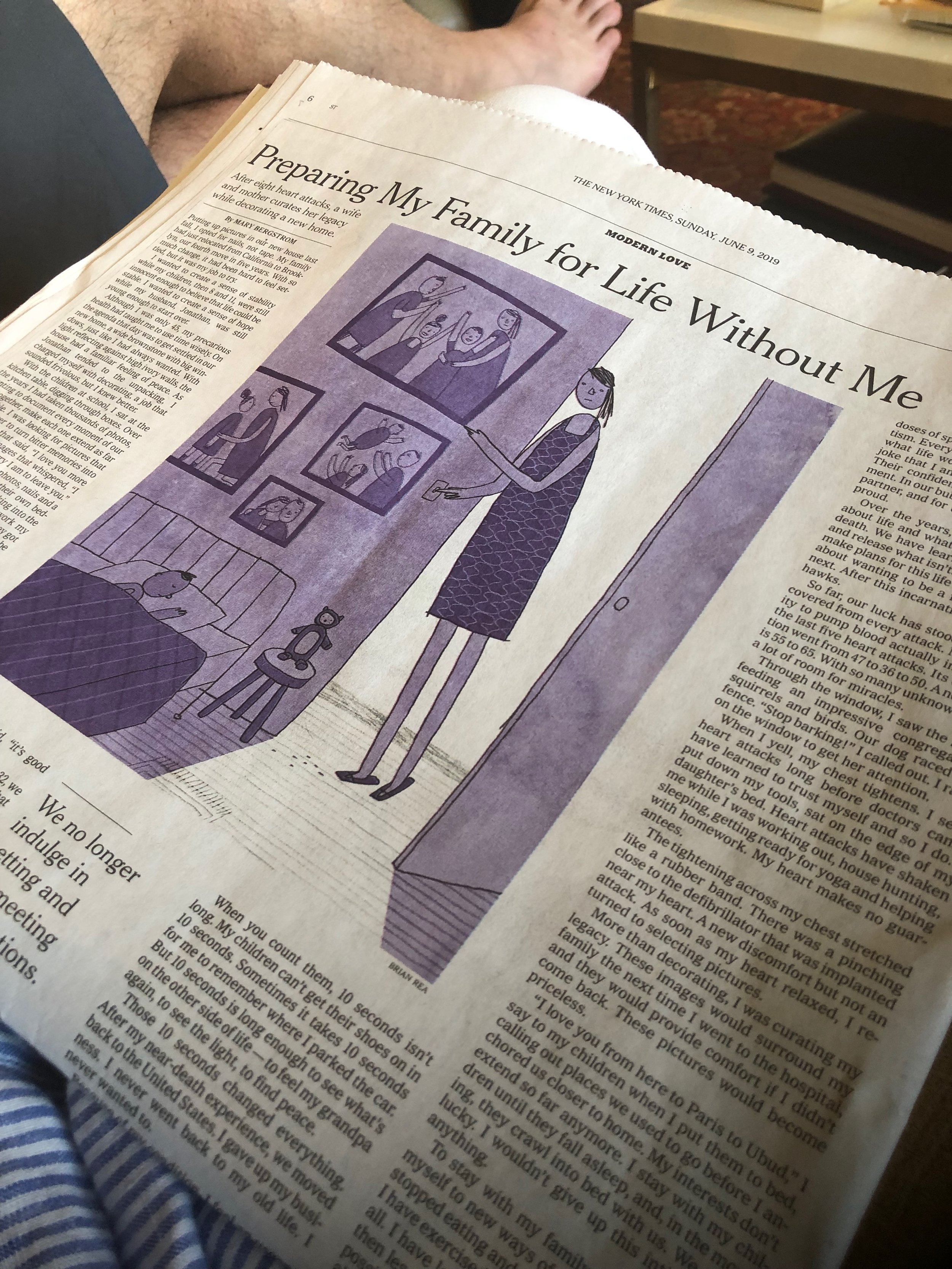 Looking at my biggest fears casually laying on someone else's coffee table (NYT Modern Love, June 2019)