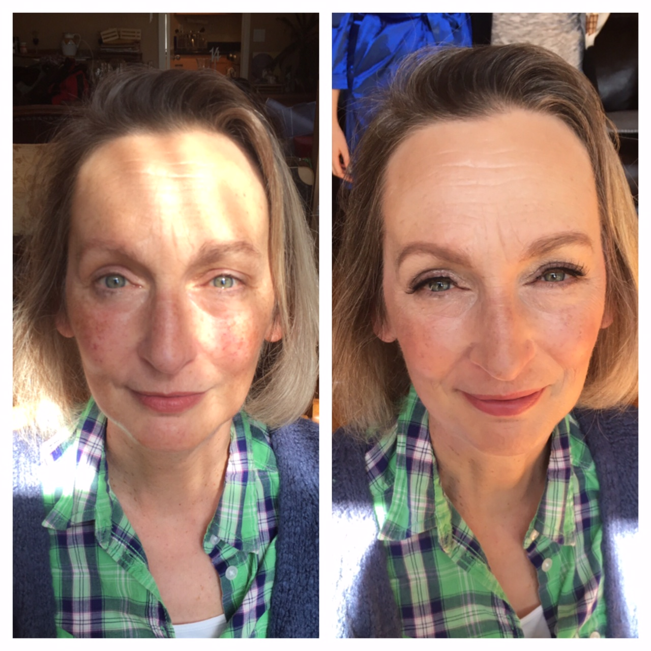 Before and After of Victoria, the mother of the groom.