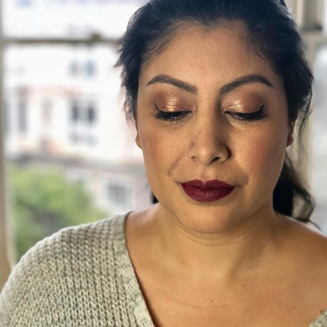 One of my favorite looks from a busy weekend! Can't wait to see this look in full effect for this bride's wedding day.  Lip is exclusive @narsissist boutique 413 Bleeker Flawless skin created with @temptu airbrush hydralock foundation and bronzer  Eyes @narsissist Wanted palette Eyebrows @anastasiabeverlyhills Brow Wiz and @benefitcosmetics Gimme Brow