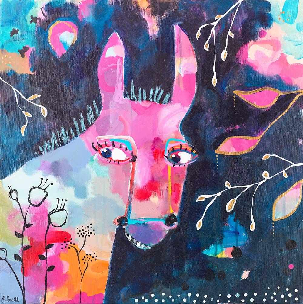 Donkey Portrait - SOLD