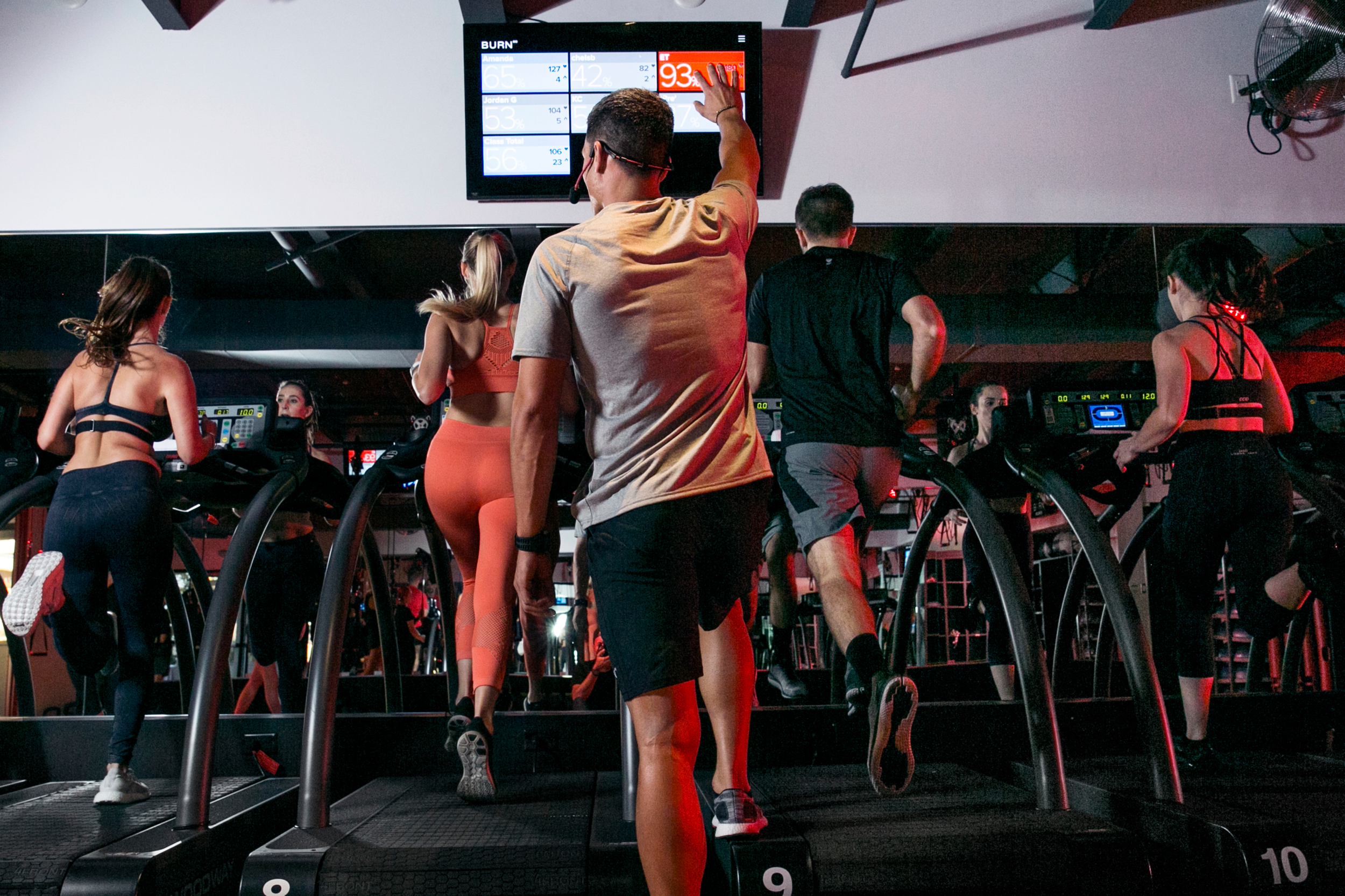 SEE YOUR WORK - Monitor your heart rate and see how many calories you're BURNing in real time on the in-class performance boards.