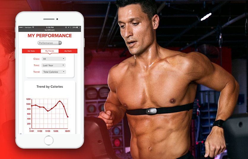TRACK YOUR PROGRESS - Receive workout summaries after each class and analyze your workout trends in your Burn 60 profile to help set future goals.