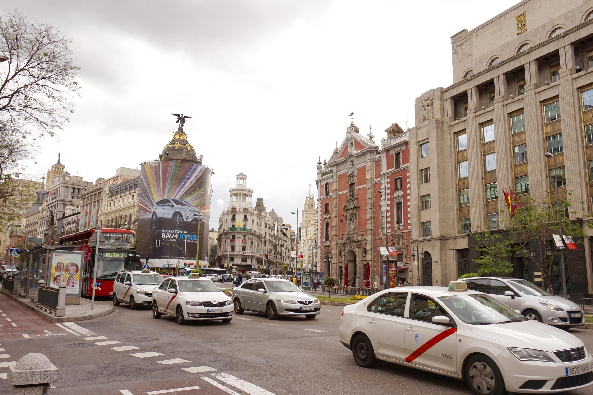 Gran Via (East) - from Plaza de Cibeles