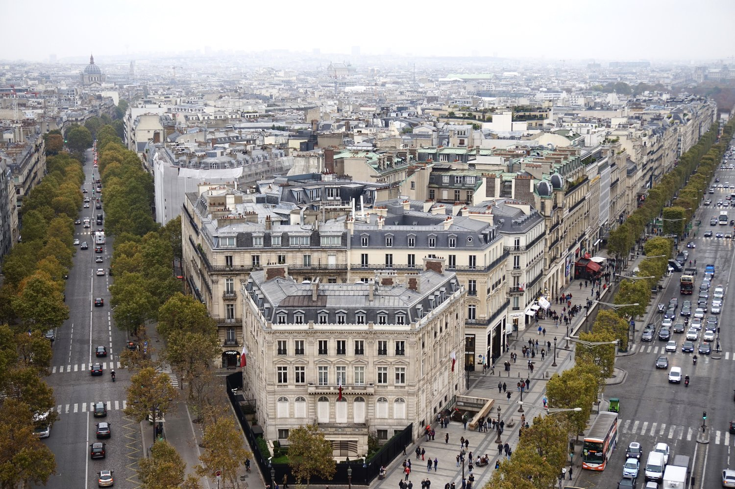 Image result for view from arc de triomphe