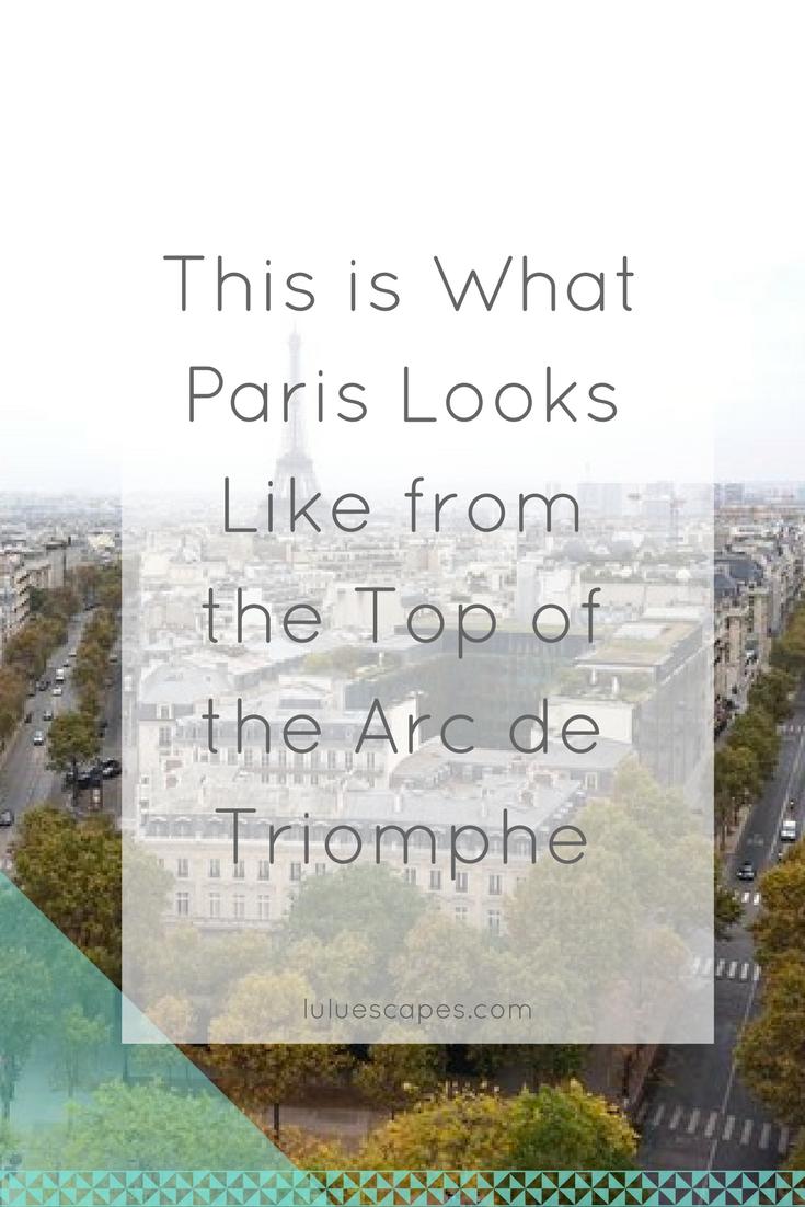 Paris-Arc-Triomphe-View