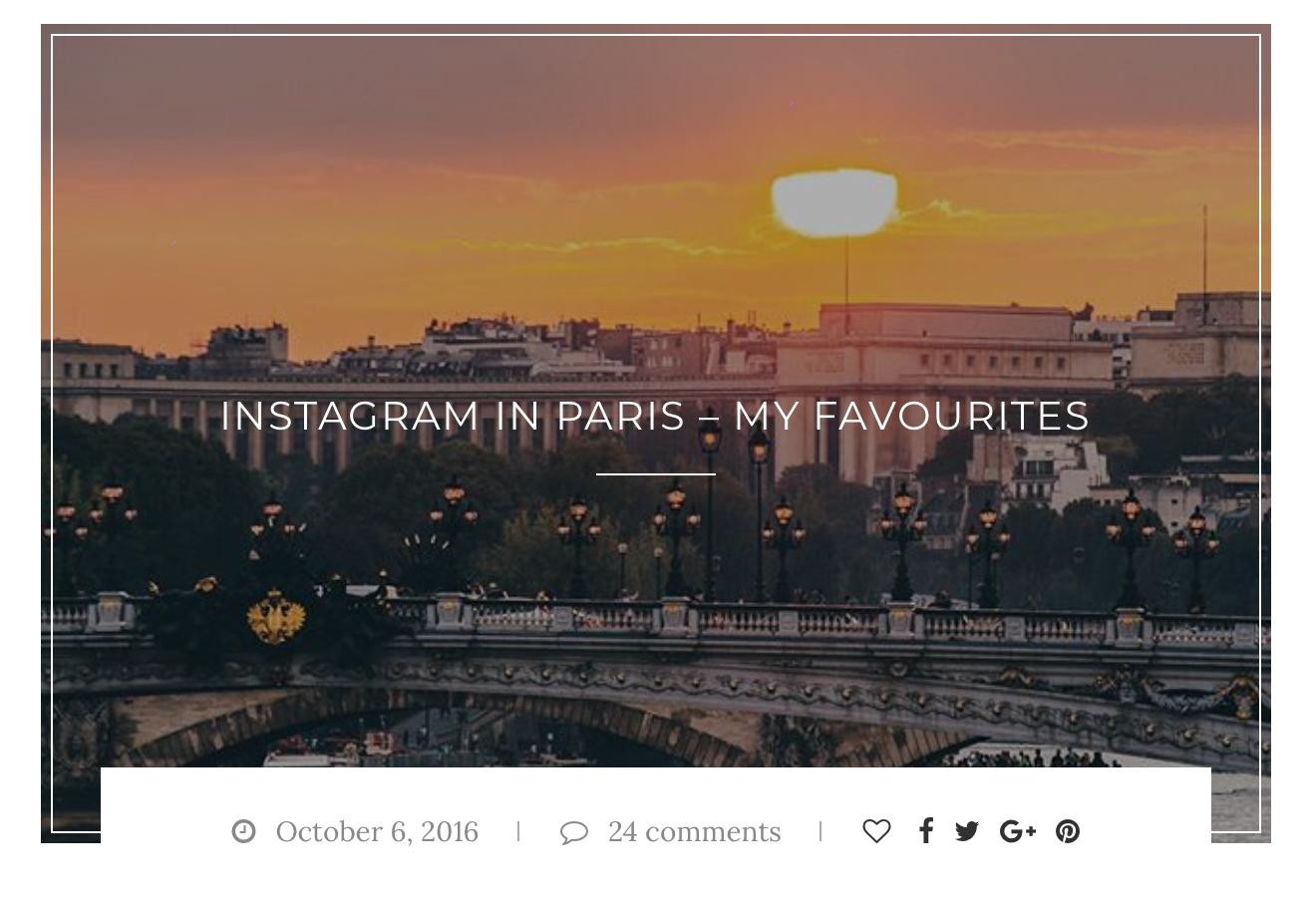 INSTAGRAM IN PARIS – MY FAVOURITES
