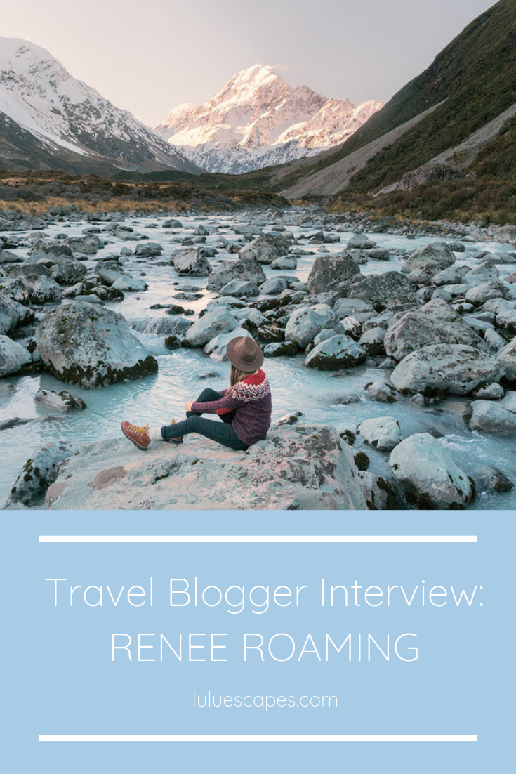 Travel blogger Renee Hahnel