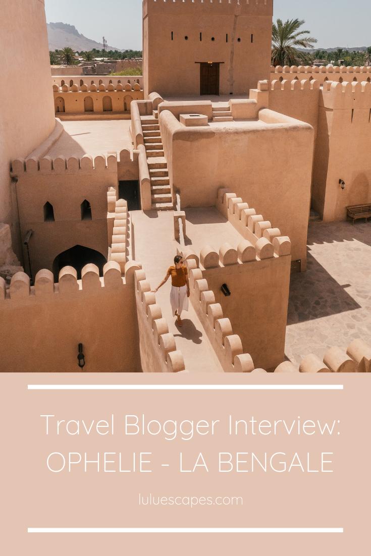 Travel Blogger Ophélie Moris - La Bengale