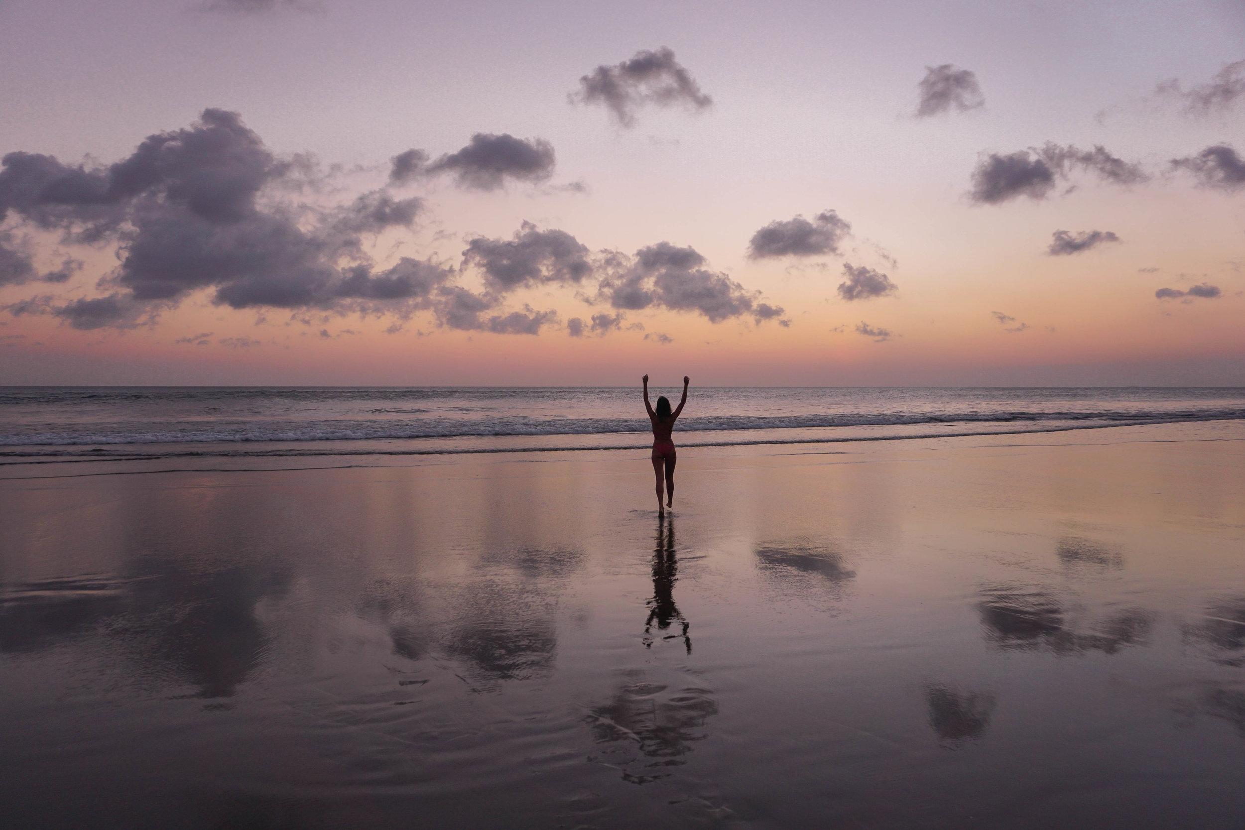 Bali - sunset -Seminyak Beach