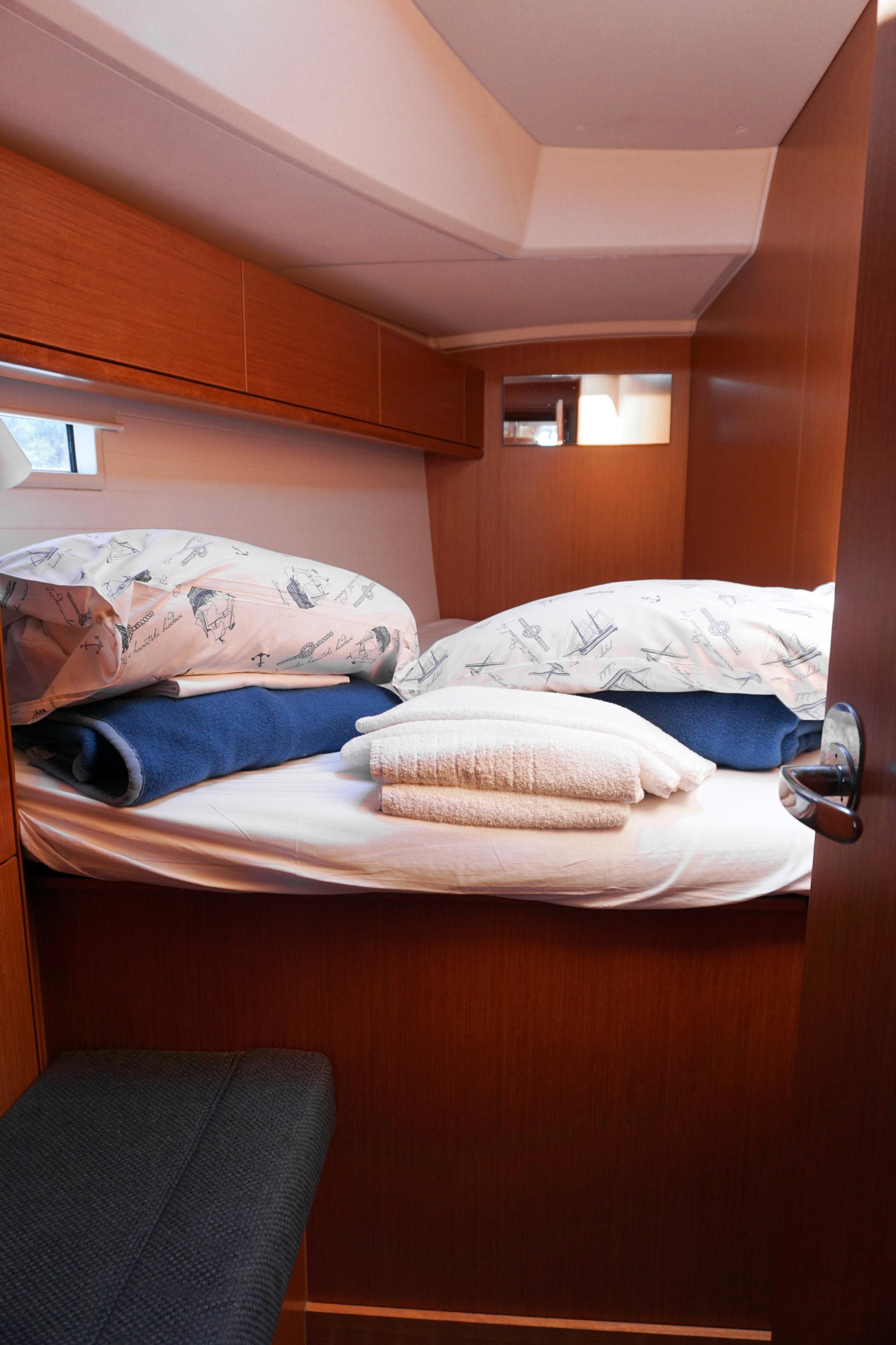 Sailweek Croatia - sailing boat cabin