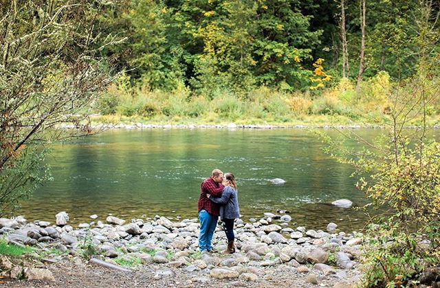 Kicking off fall with some love. Happy engagement to these beautiful people, she picked a perfect spot!