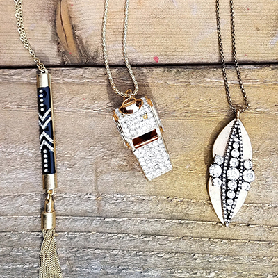 Now carrying Sparklepop Jewelry! Necklaces range $28-$32