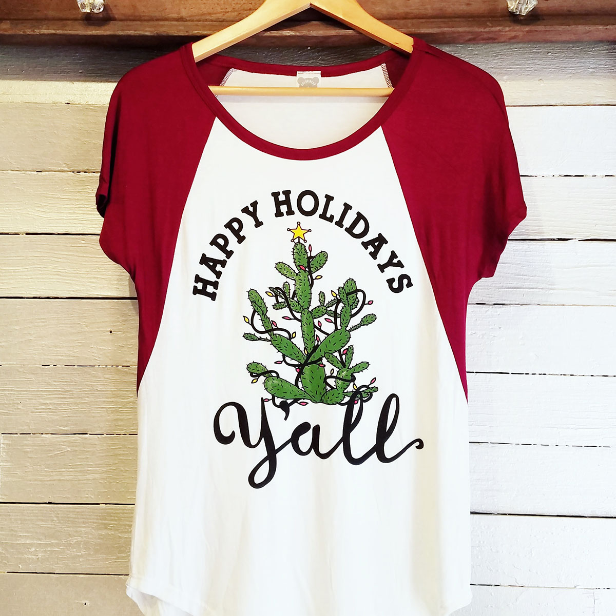 Celebrate a merry Texas Christmas in this spunky and adorable tee. $25