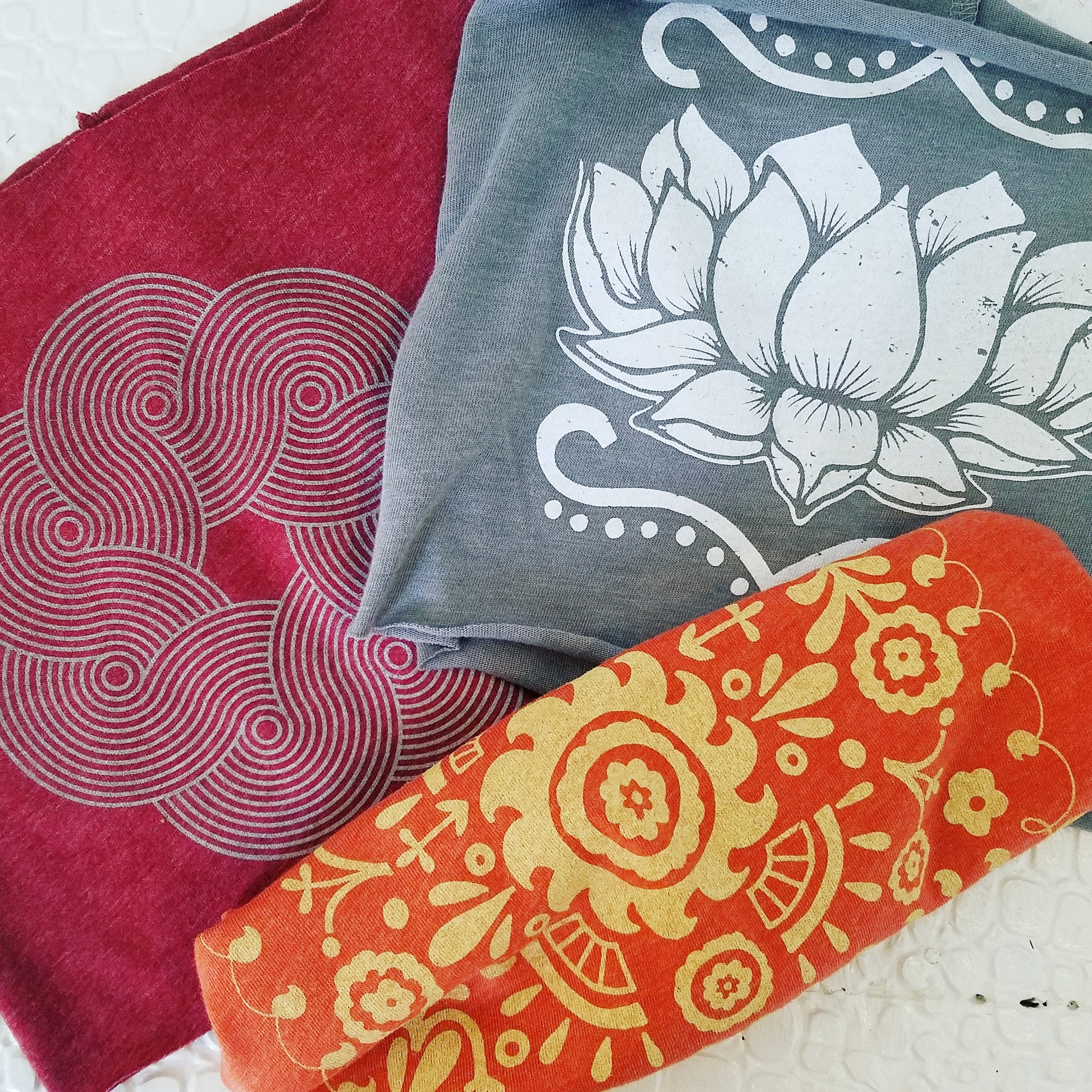 Colorful patterns on Soul Flower Cotton Headbands