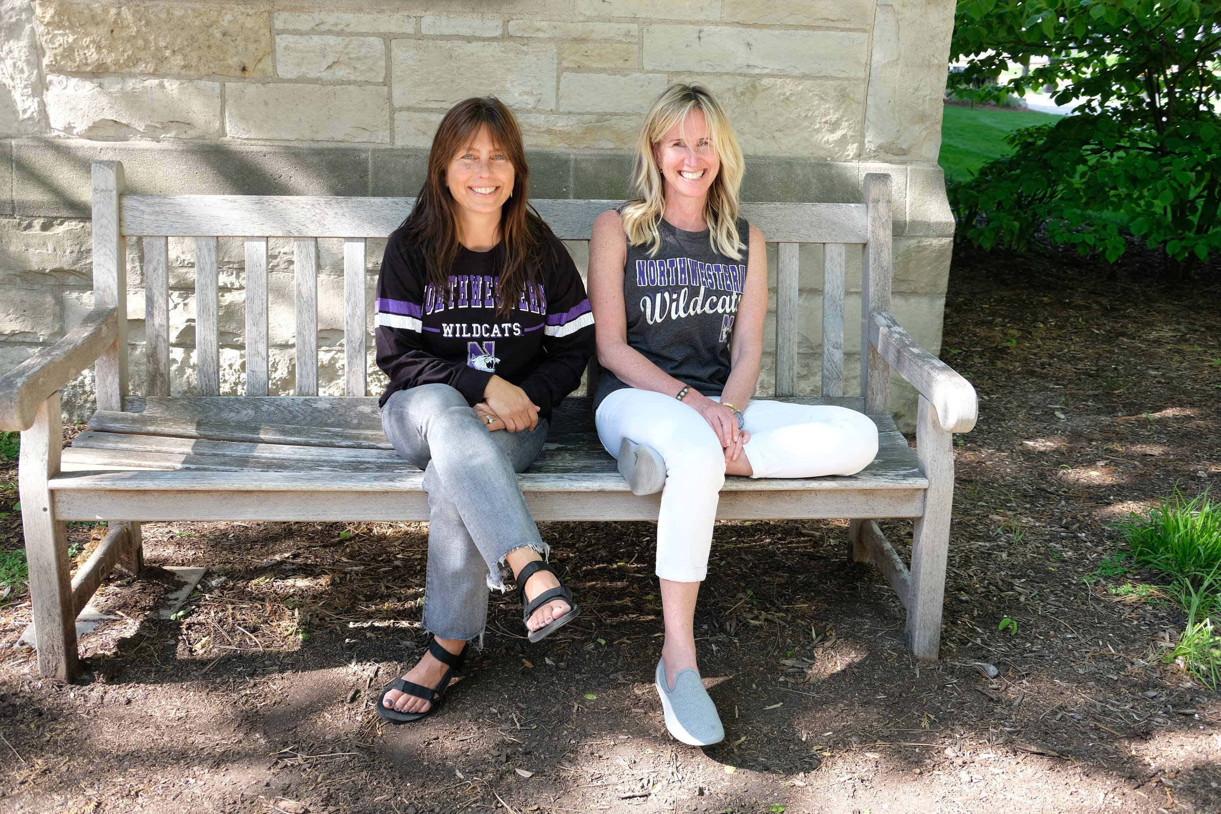 Bonnie and Liora Daytripping on Northwestern's campus