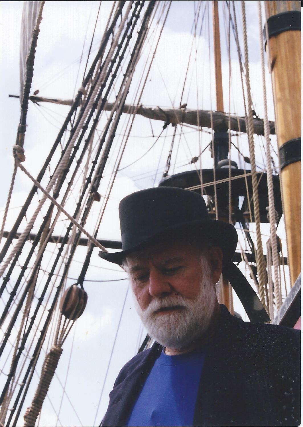 Baron Thomas aboard Endeavour