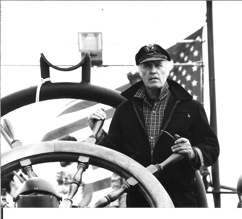 Howard Thomas at the helm