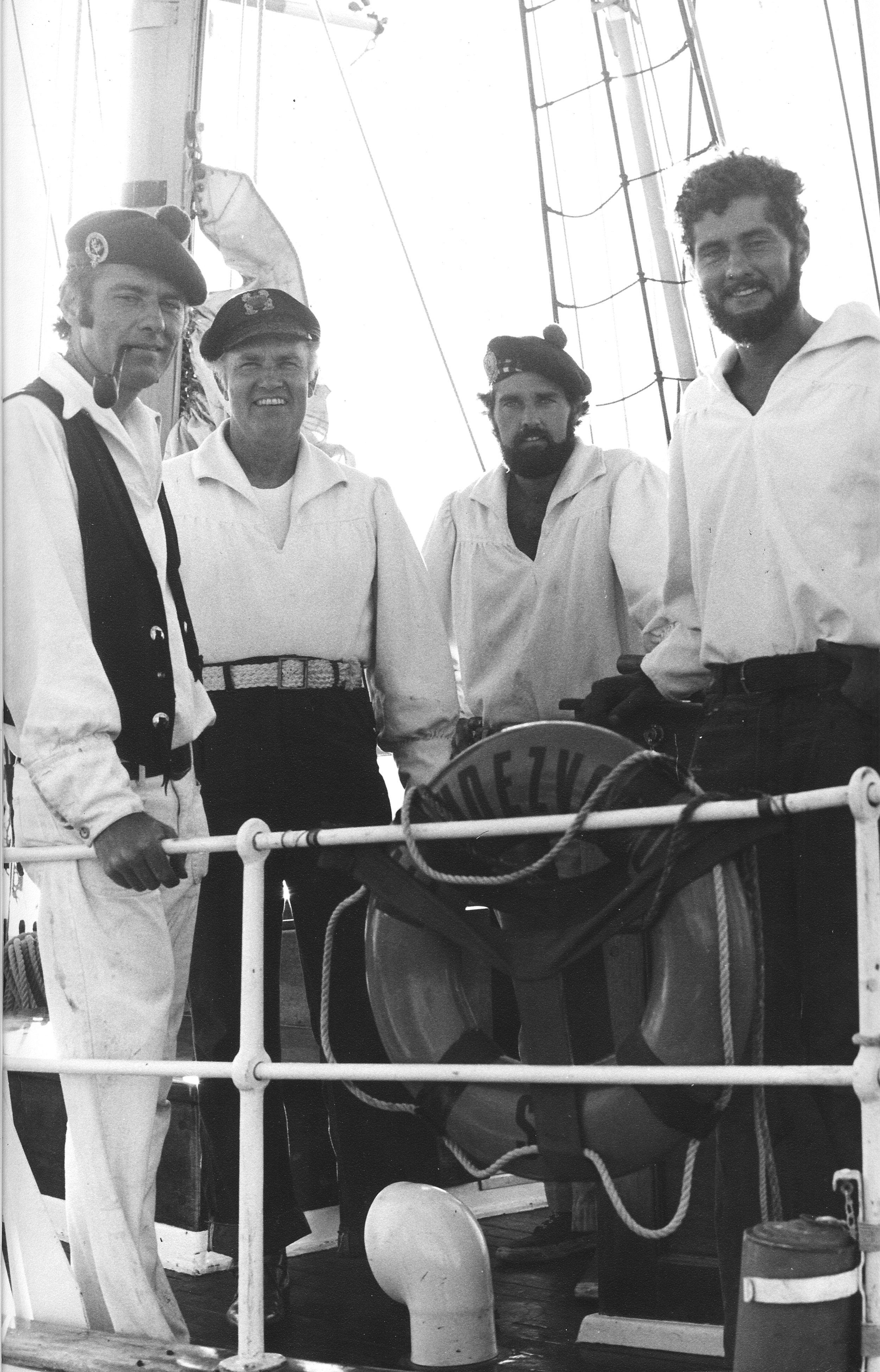 The Thomas crew on  Brigantine Rendezvous