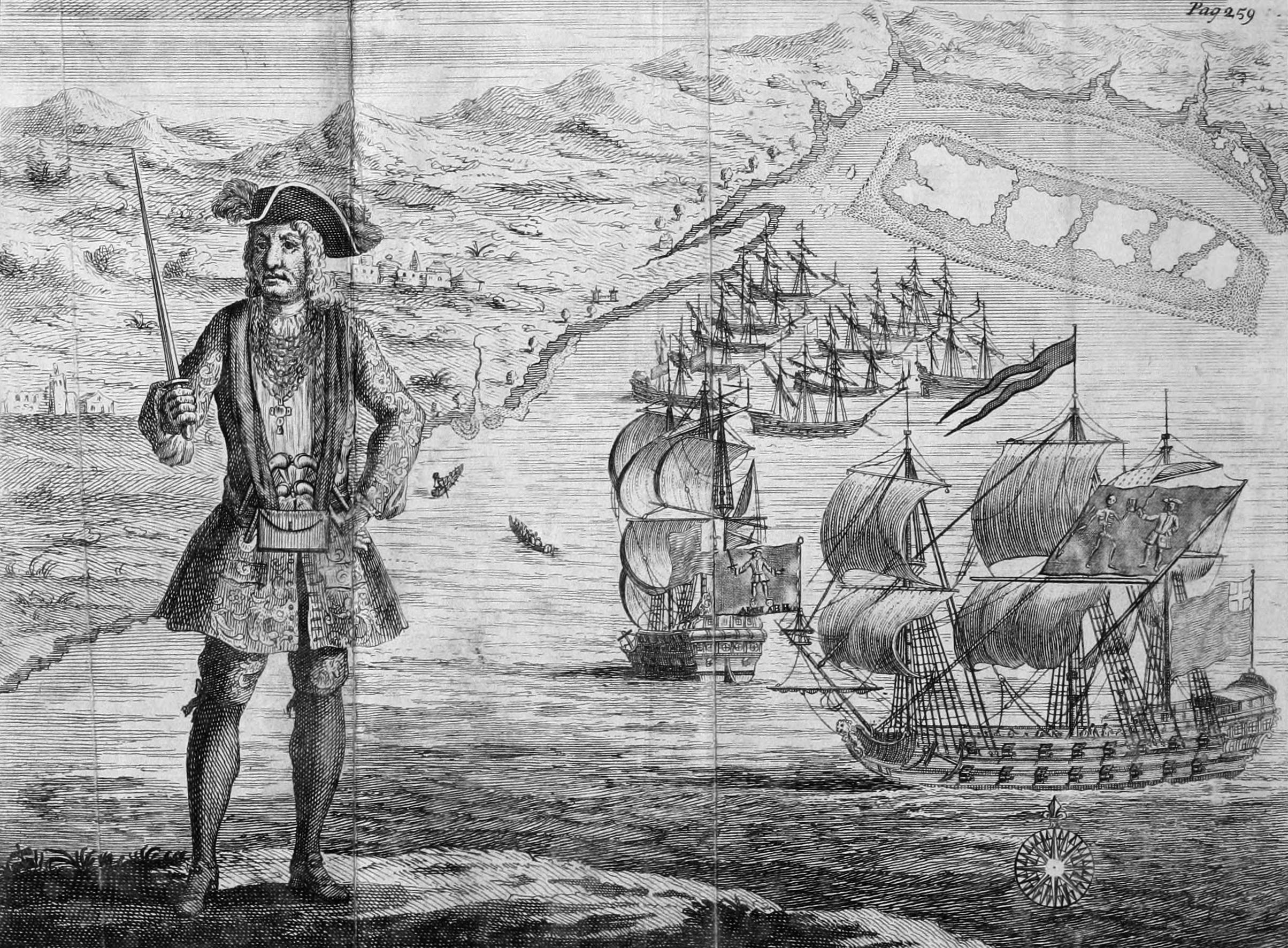 Bartholomew Roberts in 1722 (off West Africa)
