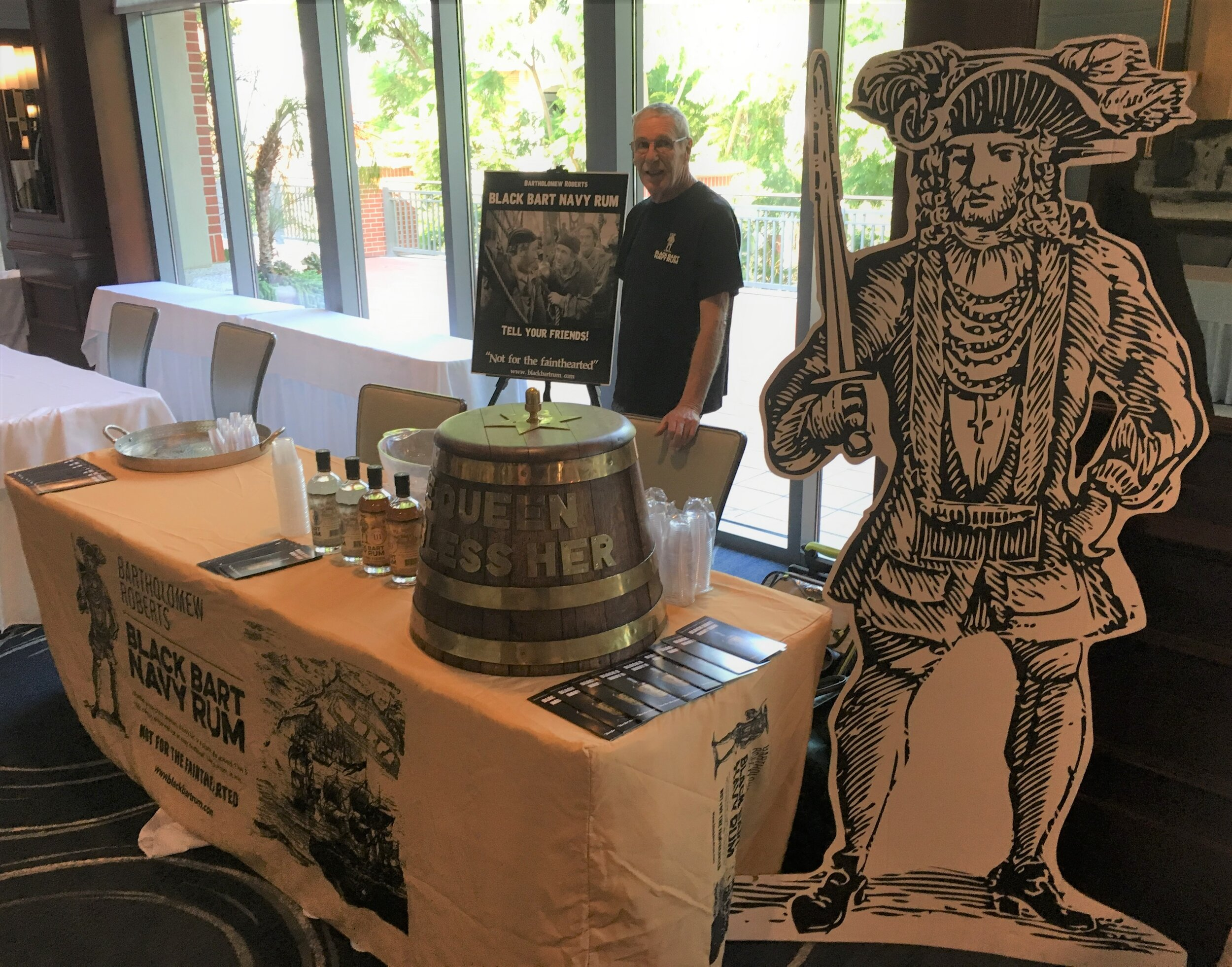 Black Bart Navy Rum booth at Taste of Conejo (October 11, 2019)